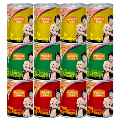 麥富迪犬用罐頭牛肉蔬菜罐頭375g狗狗零食狗罐頭拌飯牛肉罐頭狗濕糧寵物零食