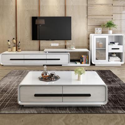 彤慕居茶幾電視柜現代簡約小戶型客廳家用茶桌椅組合套裝茶幾伸縮電視柜