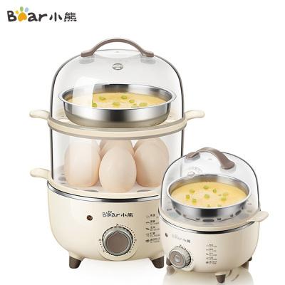 小熊(Bear)煮蛋器 ZDQ-B14R1 家用蒸蛋器早餐機旋鈕可定時煮蛋機自動斷電小型早餐神器蘇寧自營