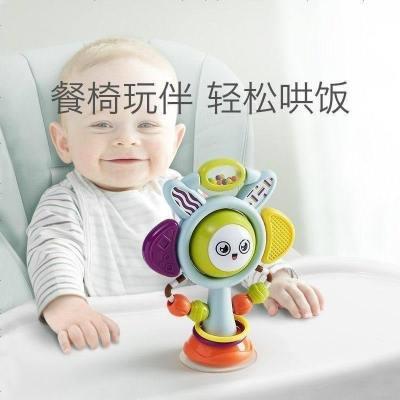 babycare寶寶吃飯餐椅吸盤玩具 0-1歲嬰兒安撫搖鈴兒童益智手搖鈴哄飯