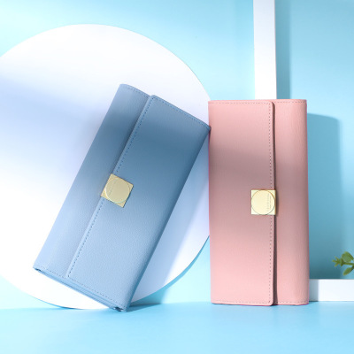新款韓版女士錢包女 長款女式多功能PU夾子女款手拿包錢夾潮 諾妮夢