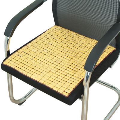夏天麻將涼席坐墊夏季辦公室電腦椅子餐椅墊汽車竹墊學生透氣防滑 牛筋本色 45*45cm
