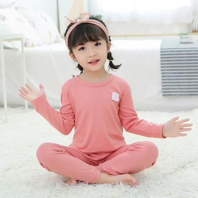 口袋虎2020年秋冬0-8歲男女童時尚德絨材質男女童家居服內衣套裝
