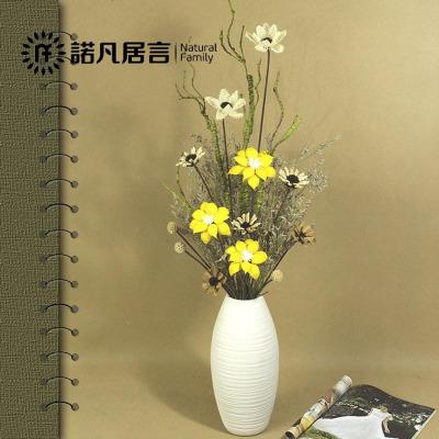 諾凡花束假花干花仿真花擺件仿真裝飾花瓶套裝客廳插花藝云南擺件