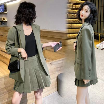 愫惠君2020春裝新款西裝套裝女甜美名媛裙子兩件套潮H-OMN2015