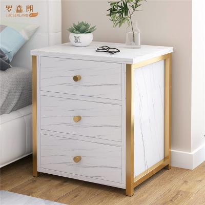 羅森朗 床頭柜北歐風ins網紅床頭柜子臥室多層置物架小型多功能柜子