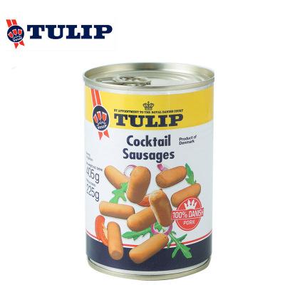 TULIP丹麥進口郁金香熟制豬肉香腸罐頭405g×2罐(短條形) 鹵水浸泡 戶外早餐火鍋配菜17209