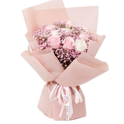 爱花居 红玫瑰花鲜花速递情人节生日礼物送女生满天星全国花店同城送花 与你相遇