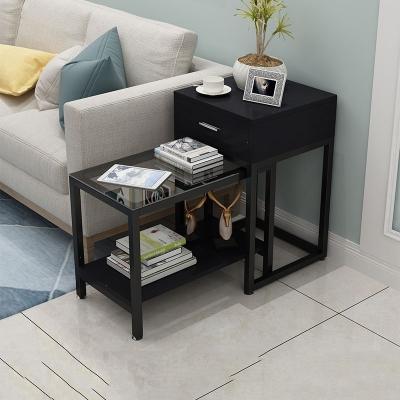 沙發邊幾柜多功能現代簡約客廳沙發邊柜側邊柜長方形邊角幾小茶幾