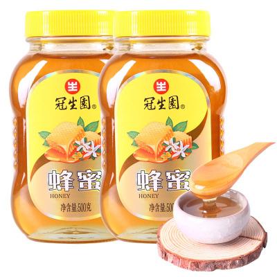 冠生園蜂蜜百花蜜500gx2瓶裝組合裝液態蜜上海特產