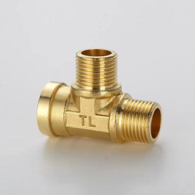 4分加厚銅三通接頭內外絲內牙外牙熱水器燃氣管水管一分二銅配件