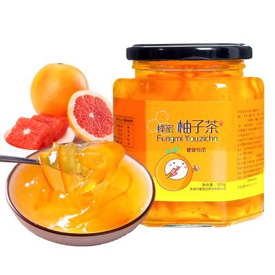 序木堂蜂蜜柚子茶500g罐装冲水喝的饮品柠檬茶冲饮冲泡水果茶酱