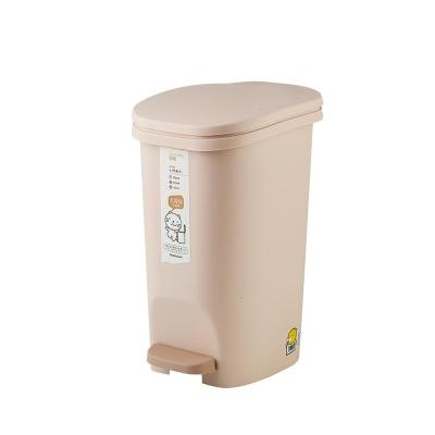 衛生間垃圾桶帶蓋家用廁所廢紙客廳腳踏式臥室有蓋廚房腳踩大號筒弧威