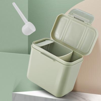 babycare奶粉盒便攜外出 嬰兒大容量多功能奶粉分裝盒 寶寶奶粉格 梅幸茶900ml 1660