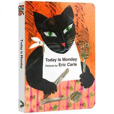 英文原版繪本 Today Is Monday 今天是星期一 Eric Carle 艾瑞卡爾爺爺英語啟蒙兒歌紙板書 廖