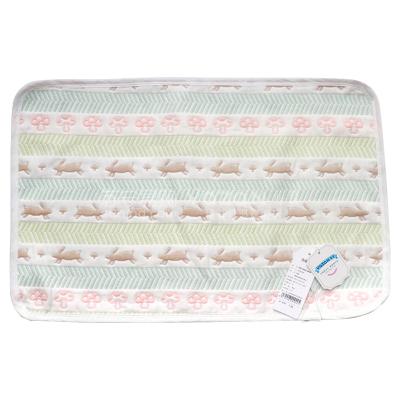 雅贊跑兔寶寶/成人軟涼席枕巾枕套 新生嬰兒/成人金字塔六層紗布涼席枕巾雙面四季空調房 紗布涼席枕巾枕套