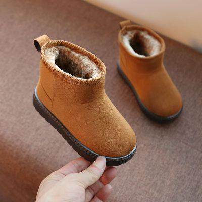 女童短靴儿童雪地靴男童2019新款冬季加绒宝宝棉鞋保暖鞋子 莎丞