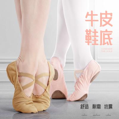 兒童舞蹈鞋女童專業帆布軟底練功鞋跳舞鞋成人中國舞民族芭蕾舞鞋