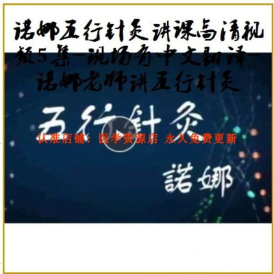 诺娜五行针灸讲课高清视频5集-现场有中文翻译-诺娜老师