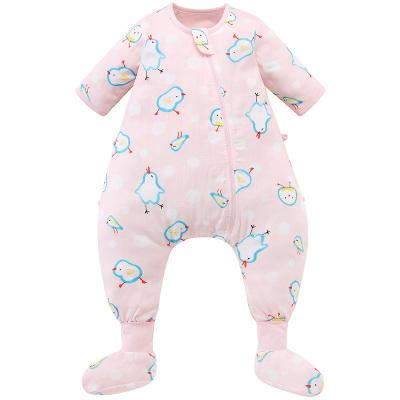 米樂魚 寶寶睡袋嬰兒防踢被四季通用睡袋分腿可拆大中童睡袋空調房適萌鳥
