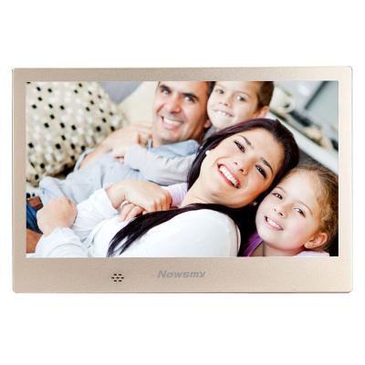 紐曼(Newsmy) 數碼相框 D10MHD 土豪金 10英寸 電子相冊 高清視頻播放 禮品個性定制 支持720P帶遙控