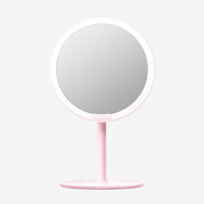AMIRO mini便攜版高清日光化妝鏡 粉色款