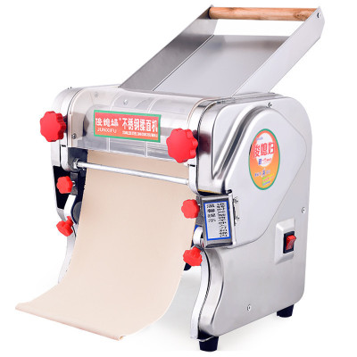 俊媳妇JUNXIFU-240电动面条机不锈钢揉面机自动压面机家用商用饺子馄饨皮包子(0.1-20)厚可调挂面轧面机