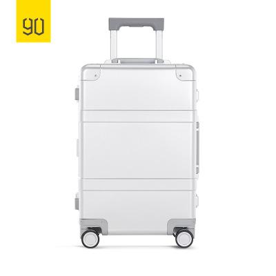 90分智能金屬旅行箱20寸全鋁鎂合金拉桿箱商務登機行李箱 銀色 小米生態鏈企業