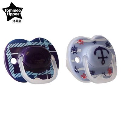 汤美星(Tommee Tippee)00903 小伦敦限量版安抚奶嘴柔软硅胶 6-18个月 蓝色 2个装