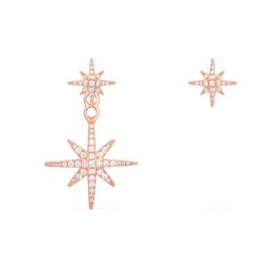 APM Monaco【林志玲 黄圣依同款】女士 玫瑰金色 S925银镶晶钻锆石 耳环首饰 RE10596OX