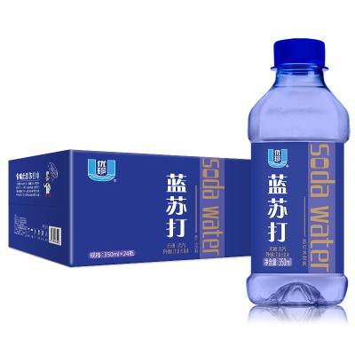 優珍藍蘇打水無糖無汽弱堿性飲用水24瓶奢華裝