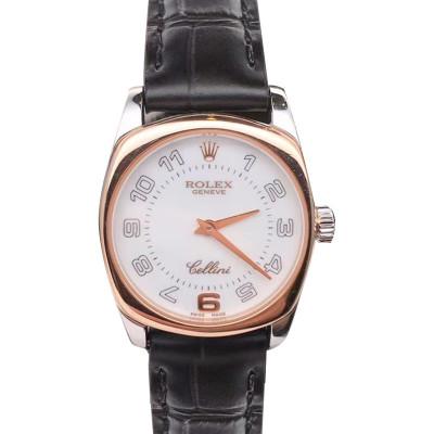 【二手95新】Rolex/勞力士 手表女 切利尼系列 雙金色 18K玫瑰金&白金 25mm 石英機芯女士腕表 6229