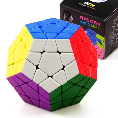 圣手7212A寶石五魔方 專業比賽魔方GEM五魔方十二面體異形魔方 兒童小孩益智玩具早教減壓魔方
