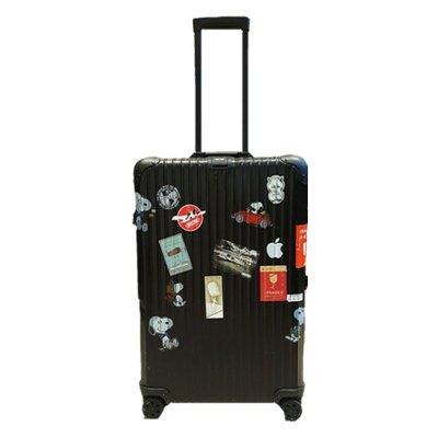【正品二手9成新】日默瓦(RIMOWA )CHECK-IN L 黑色镁铝合金 28寸万向轮静音型 行李箱 镁铝合金