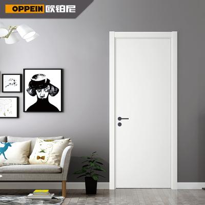 欧铂尼木门室内门实木复合门卧室门人造板平开诺亚免漆门现代简约风格