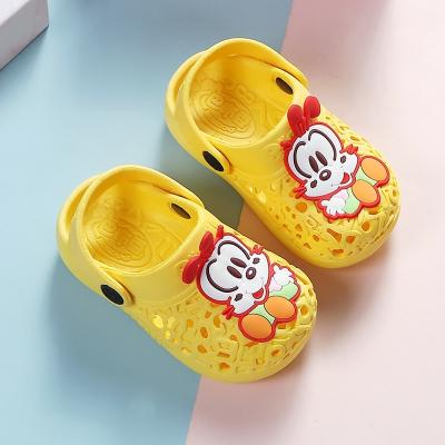 巴布豆兒童拖鞋夏1-3歲嬰幼兒防滑拖鞋男女小童4歲寶寶學步洞洞鞋