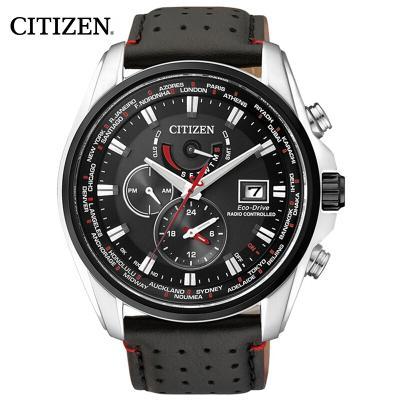 西鐵城(CITIZEN)手表男士日本 光動能多局電波萬年歷多功能運動男表AT9037-05E