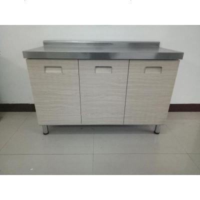 不锈钢橱柜定做整体304简易农村厨房带水槽灶台移动式多功能 202三_彩钢平台柜