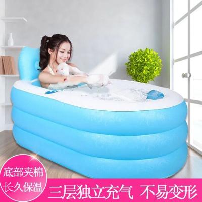 閃電客充氣浴池 浴桶大人成人洗澡桶家用保溫全身浴盆 便攜式折疊浴缸女