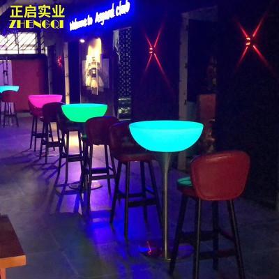 尋木匠發光酒吧桌子高腳桌創意簡約戶外散臺KTV夜店吧臺桌清吧桌椅組合