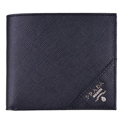 PRADA 普拉达 男士牛皮短款钱夹 钱包 证件夹 2MO513 QME