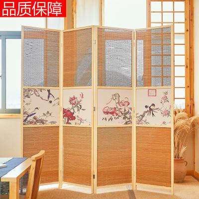 隔斷中式屏風簡易折疊客廳玄關墻移動折屏法耐簡約現公室實木屏風