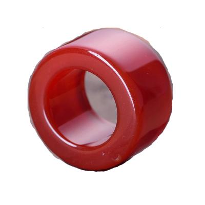 天然红绿玛瑙扳指玉石玉器戒指霸气男士 男款本命年礼物