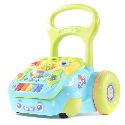 谷雨寶寶學步手推車多功能玩具嬰兒0-1歲幼兒學步車防側翻學步助步車玩具兒童1-2歲3歲
