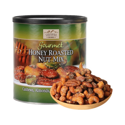 美國進口SAVANNA 薩王納850g (綠罐) 蜂蜜碳烤 混合裝堅果 腰果 杏仁 核桃 開心果,送人禮物美味零食