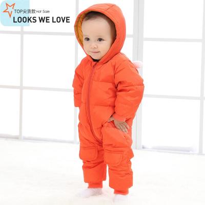 婴儿连体羽绒服冬季加厚婴幼儿衣服男宝宝0-1岁轻薄外出抱衣