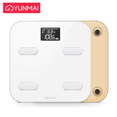 云麦(YUNMAI)好轻Color智能家用体脂称健康秤金色 29项身体数据测量 精准测体脂称体重 钢化玻璃材质
