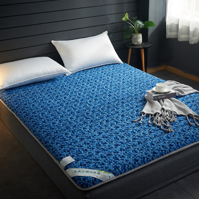 蔲伊·布阁家纺 床褥子加厚榻榻米针织布乳胶有氧抗压床垫1.5米床双人家用1.8m床学生宿舍单人0.9米床褥子垫被垫子