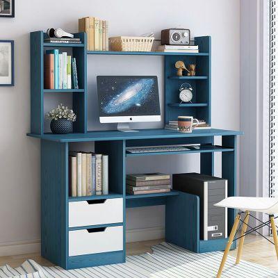 柜形象電腦臺式桌家用帶書架書桌組合簡易學生簡約現代臥室辦公寫字桌子