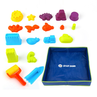 JoanMiro美樂兒童星空沙寶寶魔力太空粘土沙動力玩具沙灘超輕玩具沙子套裝 星空沙工具